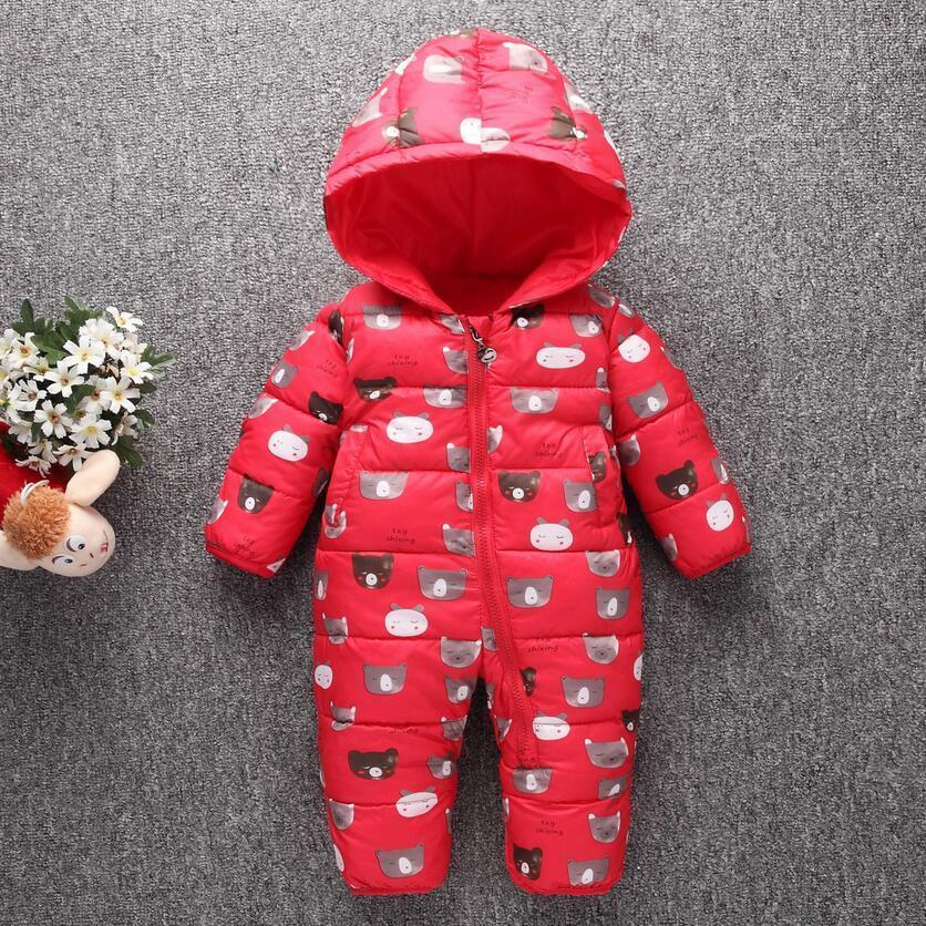 f0b9663348c1 2019 Spring Autumn Rompers For Newborn Boys Snowsuit Polyester Baby ...