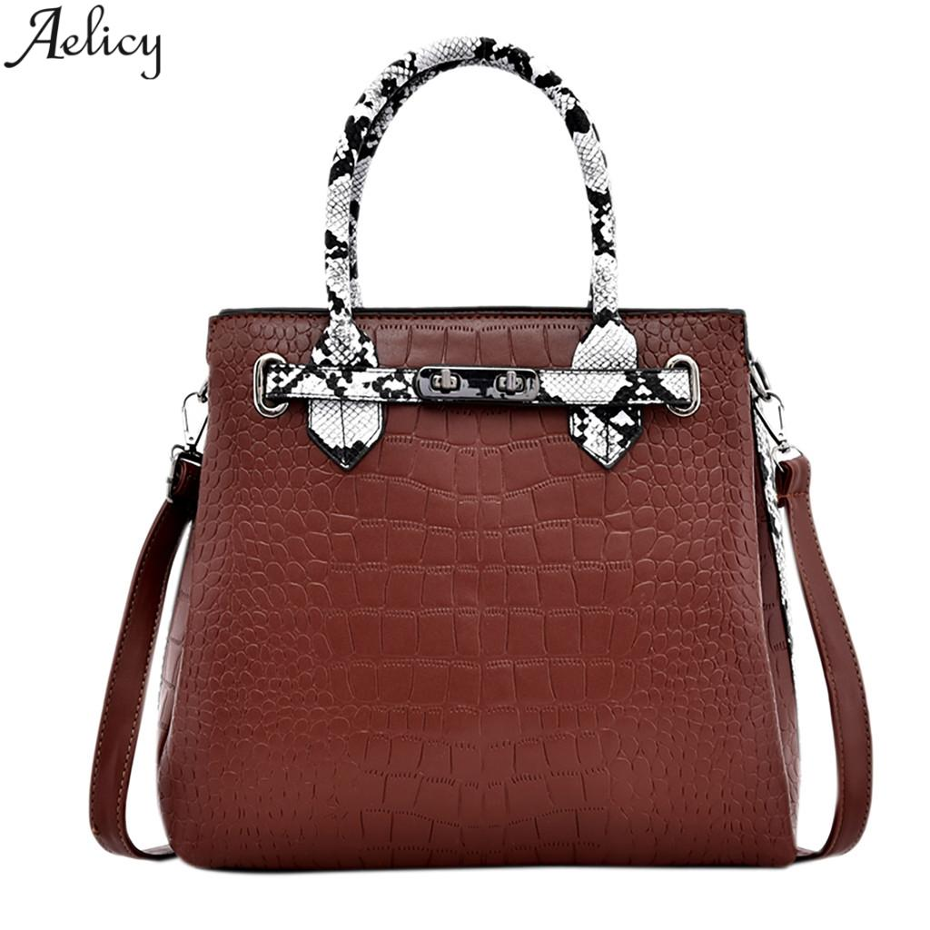 74bec79f7b30 Aelicy Women S Fashion Serpentine Pu Leather Messenger Bag Lady ...
