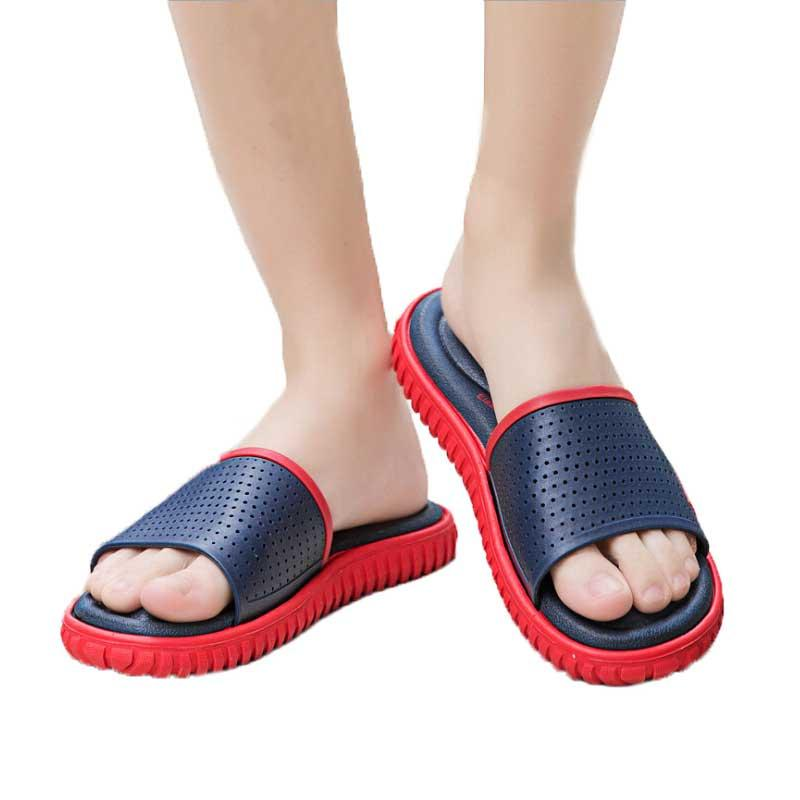 5d321511bf220 Men Slipper 2019 Summer Male Beach Shoe Antiskid Slippers Man Fashion Foot  Thicken Bathroom Sandals Home Shoes Size 39 46 Womens Trainers Kids Boots  From ...