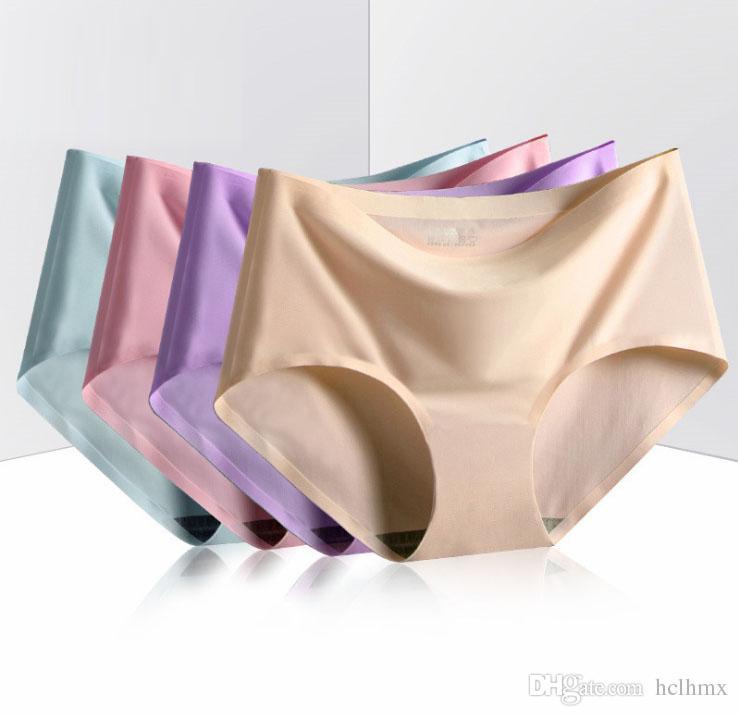 3bf1de61855 2019 2019 New Panties Seamless No Line Sexy Panty Women Underwear Intimates  M L XL Microfiber Seamless Boyshort Brief Panty From Hclhmx