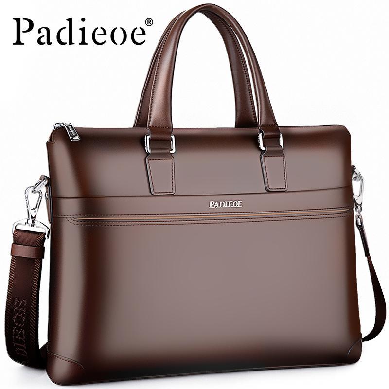 4207e72122e3 Quality 15 Inch Laptop messenger bags Bag Fashion designer briefcases Men  Office Documents Shoulder Split Leather Men s Casual Portfolio