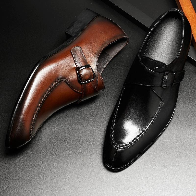 b0997300 Compre Venta Directa Al Por Mayor De Los Hombres Zapatos De Cuero ...