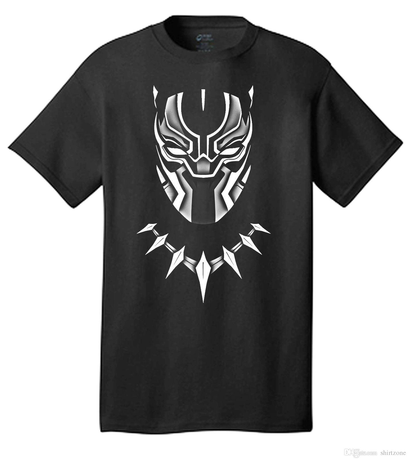 f569a5316 Black Panther Wakanda Forever Hip Hop Mask Marvel Comic Movie T Shirt Mens Women  T Shirt Men Man'S Designer Short Sleeve Fashion Custom XXXL 7 T Shirt Funny  ...
