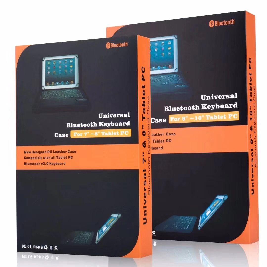 Abnehmbare drahtlose Bluetooth Tastatur PU Ledertasche für 9,10,10.1 Zoll Windows Android A33 iPad Tablet PC Galaxy Tab Universal