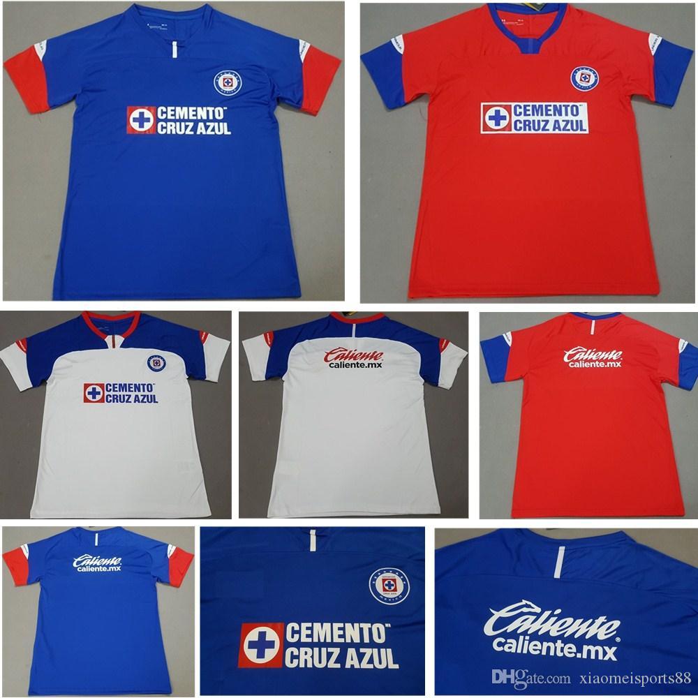 357f10e9f0286 2019 2020 México Club Cruz Azul Liga MX Camisetas De Fútbol 19 20 Camisetas  De Fútbol Locales Dispuestas Camisetas De Football Shirt Kit Maillot Por ...