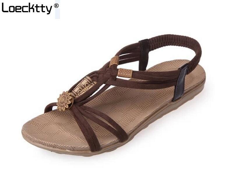 Verano 36 Mujer De Alta Gladiador 42 Sandalias Confort Beige Zapatos Planas Marrón Negro Tamaño Calidad stxCQdBhr
