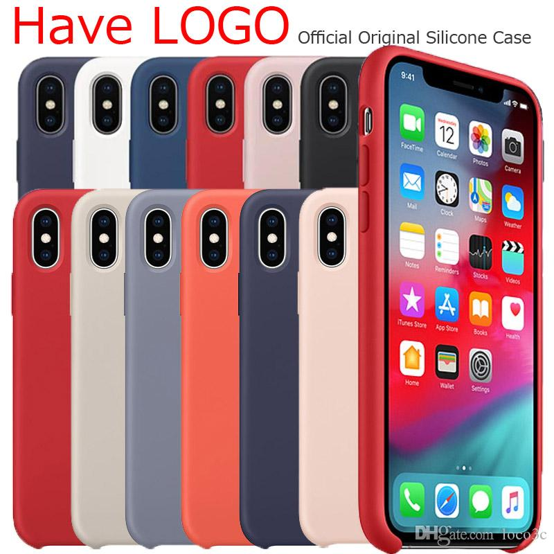 Have logo original Silicone Case For iphone 8 Plus 7 6S case Liquid cover for iPhone X XS MAX XR With Retail Box