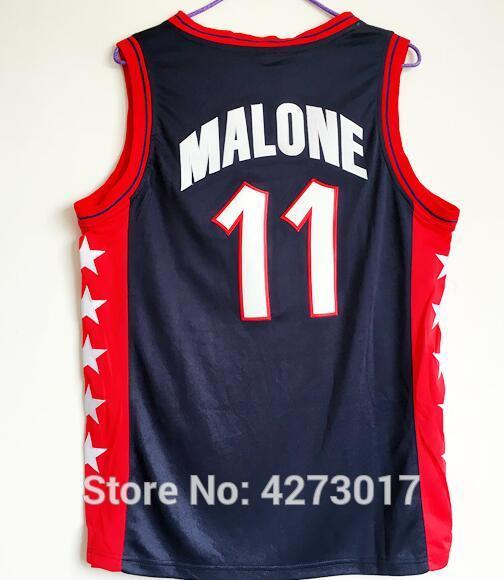 san francisco 6393d dea52 #11 karl malone Team Vintage Top Basketball Jerseys, Men cheap Customized  Embroidery and Jersey Ncaa