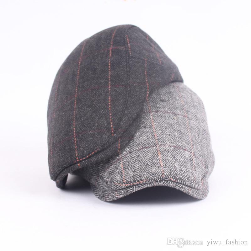 6427988244c72 Woolen Beret Men s Cap Cap Cap Warm Foreign Trade front Hat in the ...