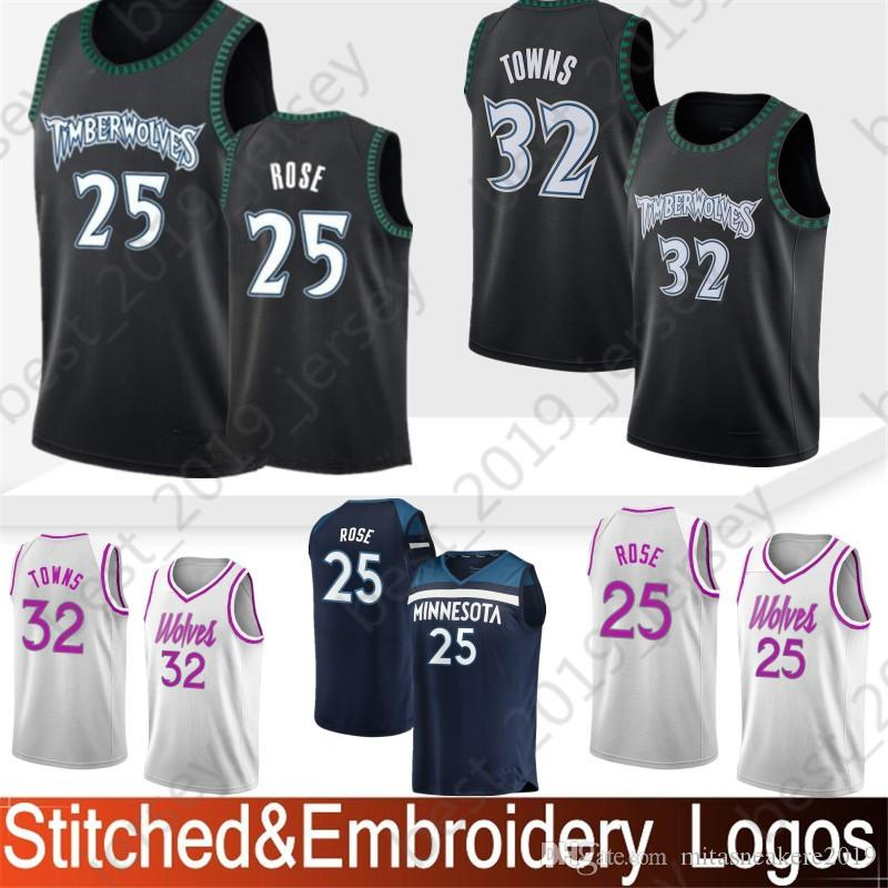 buy online 6c561 71b77 Embroidery Minnesota 22 Wiggins Andrew Timberwolves Jersey 23 Butler Jimmy  25 Rose Derrick 32 Towns Karl-Anthony Stitched Jersey
