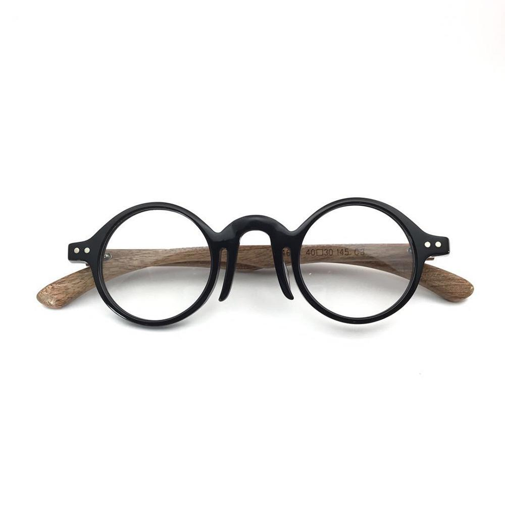 b8751102314 2019 Retro Round Eyewear Frames Women Men Handmade Optical Glasses Frames  Vintage Wood Spectacles Myopia Prescription Eyeglasses From Ericgordon