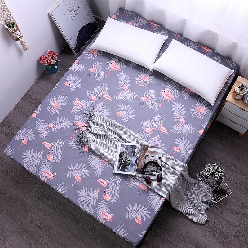 2019 Printed Fitted Sheet Polyester Mattress Covers Single Bed