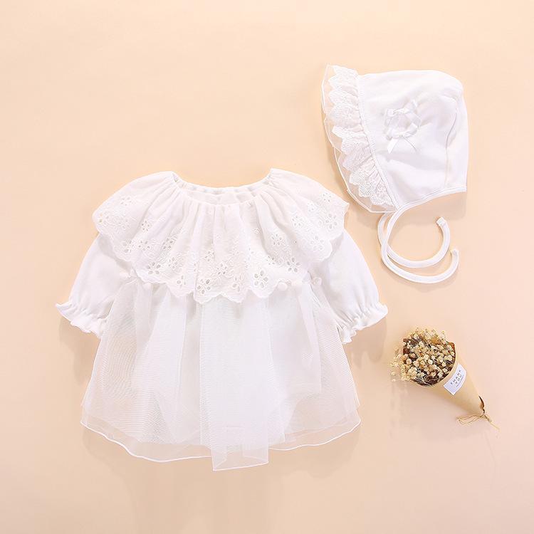 b924e39cd 2019 Bebé recién nacido Ropa para niña Vestidos Bautizo de primavera  Vestido de bautizo 0 3 meses Vestidos de bebé Bautismo de bebé Conjuntos de  ...
