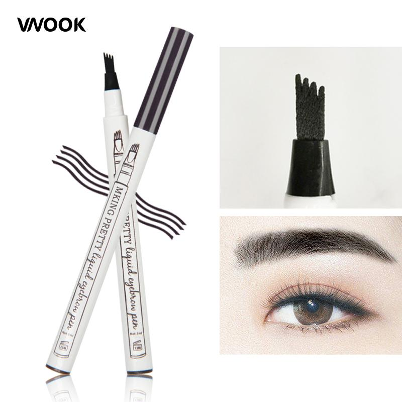 Vnook Brand Henna Eyebrow Enhancer Waterproof Liquid Eyebrow Tattoo