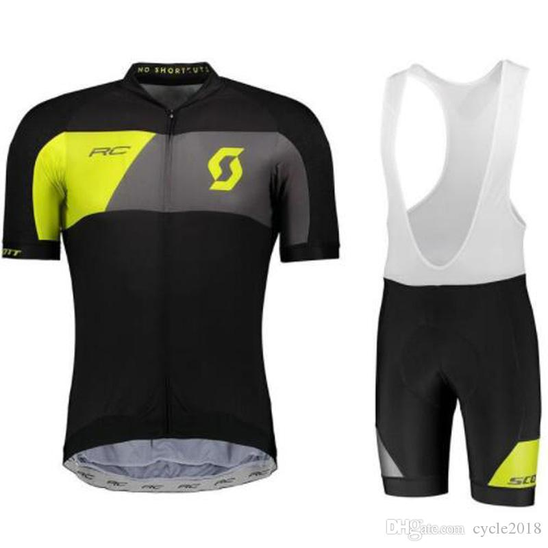 SCOTT Cycling Jerseys Sets Cool Bike Suit Bike Jersey Breathable Cycling Short Sleeves Shirt Bib Shorts Men's Cycling Clothing Ropa Ciclismo