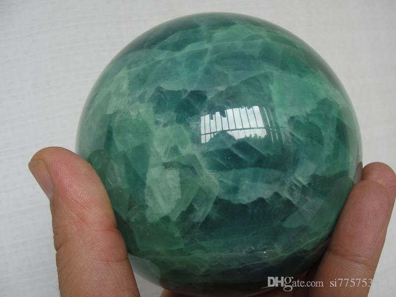 Bella sfera di cristallo di Fluorite di cristallo di 60MM 80MM 100MM Glow In The Dark Stone