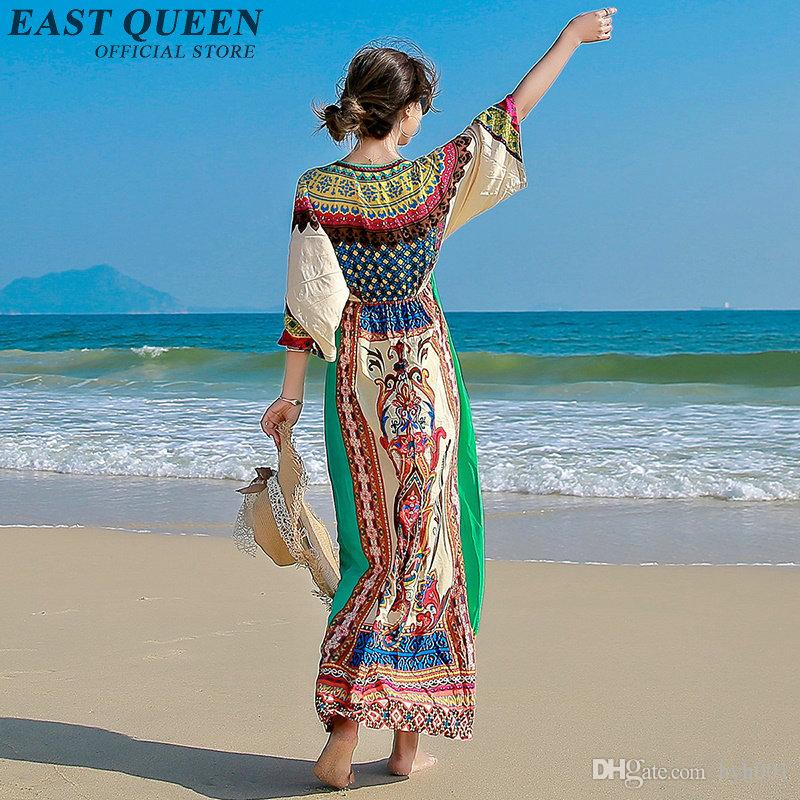 6aa1c90a8c 2019 Women Boho Chic Mexican Hippie Ethnic Style Dress Clothing Bohemian  Holiday Beach Fashion Female Sexy Dresses NN0615 Y From Hyh001