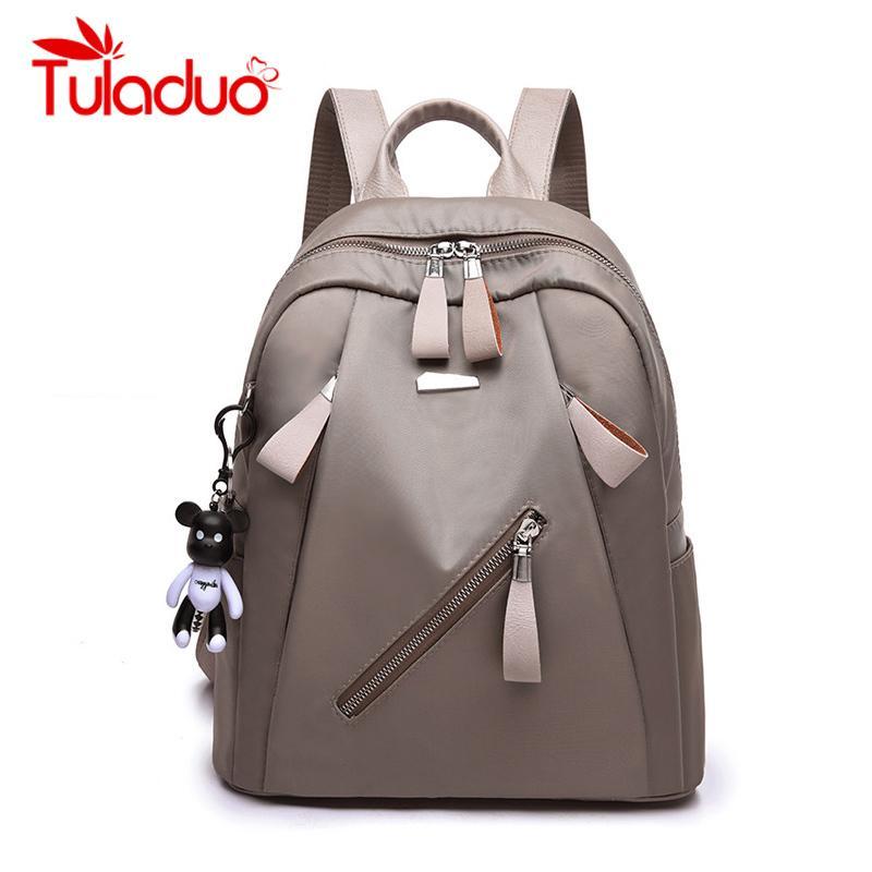 2019 New Waterproof Women Bag Oxford Women Backpacks Zipper School Bags For Teenage Girls Small Backpack Woman Shoulder Bags Luggage & Bags