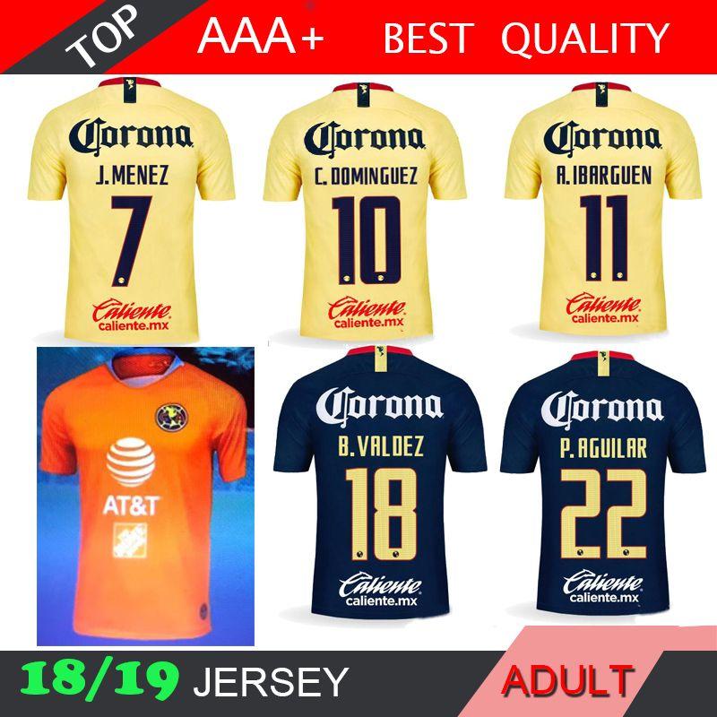 e26daf9b2 2019 America Mexico 2018 2019 LIGA MX Club Soccer Jersey C.DOMINGUEZ  R.JIMENEZ R.SAMBUEZA P.AGUILAR Home Away Goalkeeper Football Shirt Uniform  From Madride ...