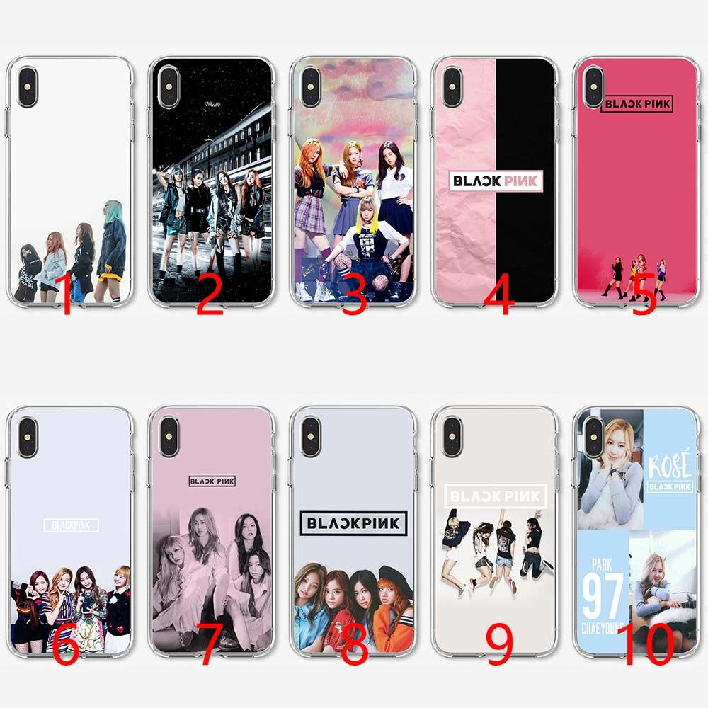 7c7eb68d10 Black Pink Blackpink Kpop Soft Silicone TPU Phone Case For IPhone 5 5S SE 6  6S 7 8 Plus X XR XS Max Cover Cases For Cell Phones Cell Phone Carrying  Case ...