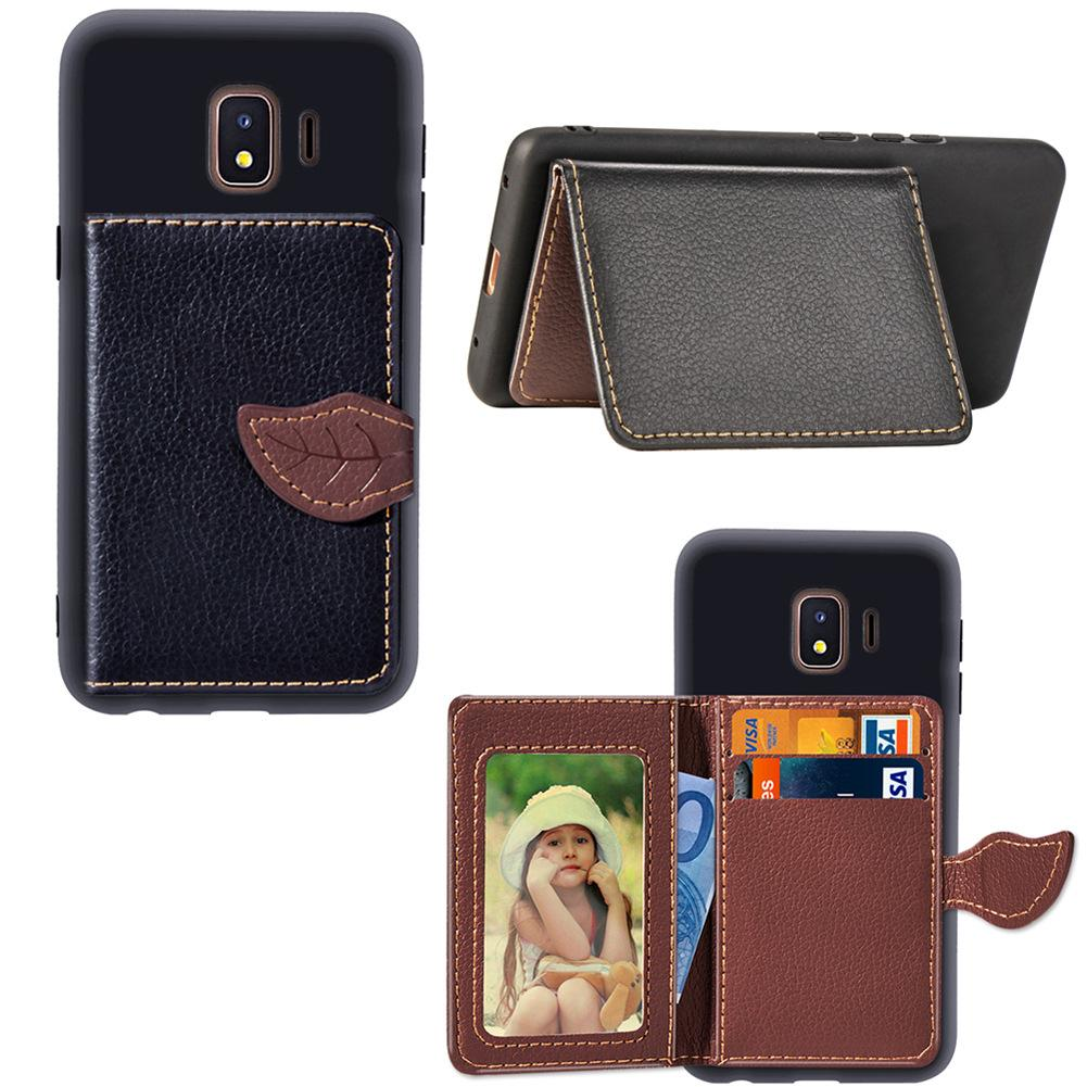 For Samsung Galaxy J2 CORE Wallet Case Light Weight Phone Stand Leaf Clip with Card Slot Money Pocket 97 Models for Option