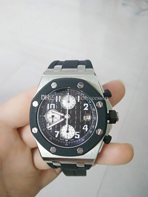 Schwarz Herrenuhren Luxusmarke Kautschukband Mode Kleid Top Herrenuhr Armbanduhr Quarzuhr Uhren Qualität Männer Neue ZiuOXPk