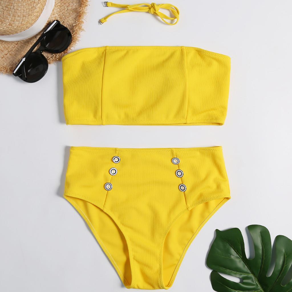 1adfc3a7fd1a Bikini 2019 Sexy Mujeres Verano Moda Imprimir traje de baño Ropa de playa  Siamés Bikini Set traje de baño bañadores Biquini
