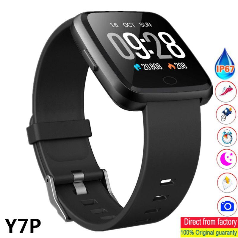 c2f2271e9960 Relojes Inteligente 2019 Nuevo Y7P Reloj Inteligente Para Hombre Reloj  Monitor De Ritmo Cardíaco Fitness Reloj Pantalla Táctil Full Smartwatch PK  B57 Gear ...