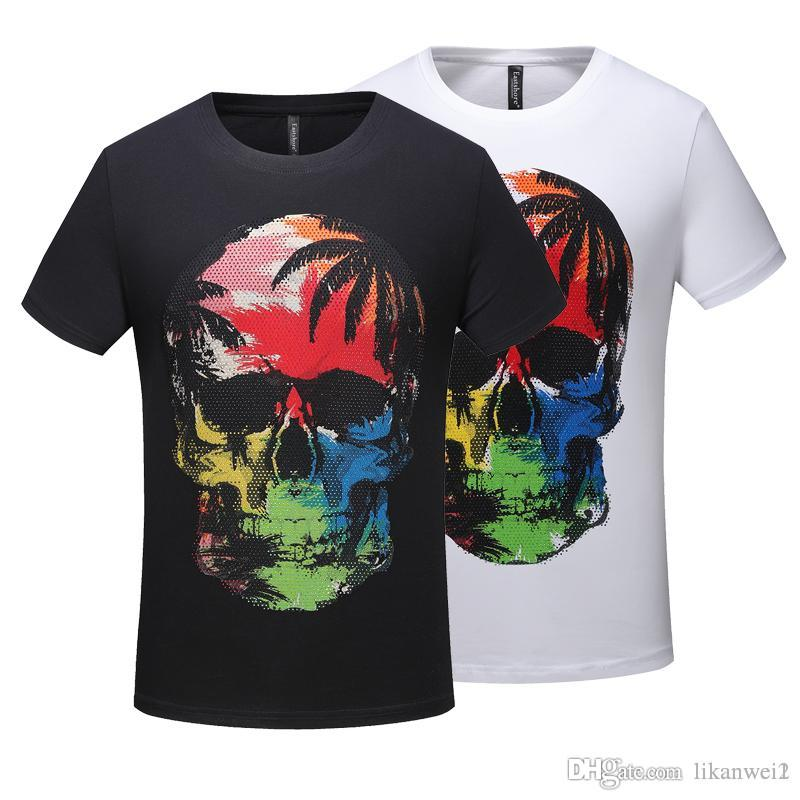 50a037d28910 Fashion Men Casual T Shirt Longline Hip Hop Tee Shirts Skull Justin Bieber  Swag Clothes Harajuku Rock Tshirt Homme T Shirt Over Shirt Best T Shirt  Site From ...