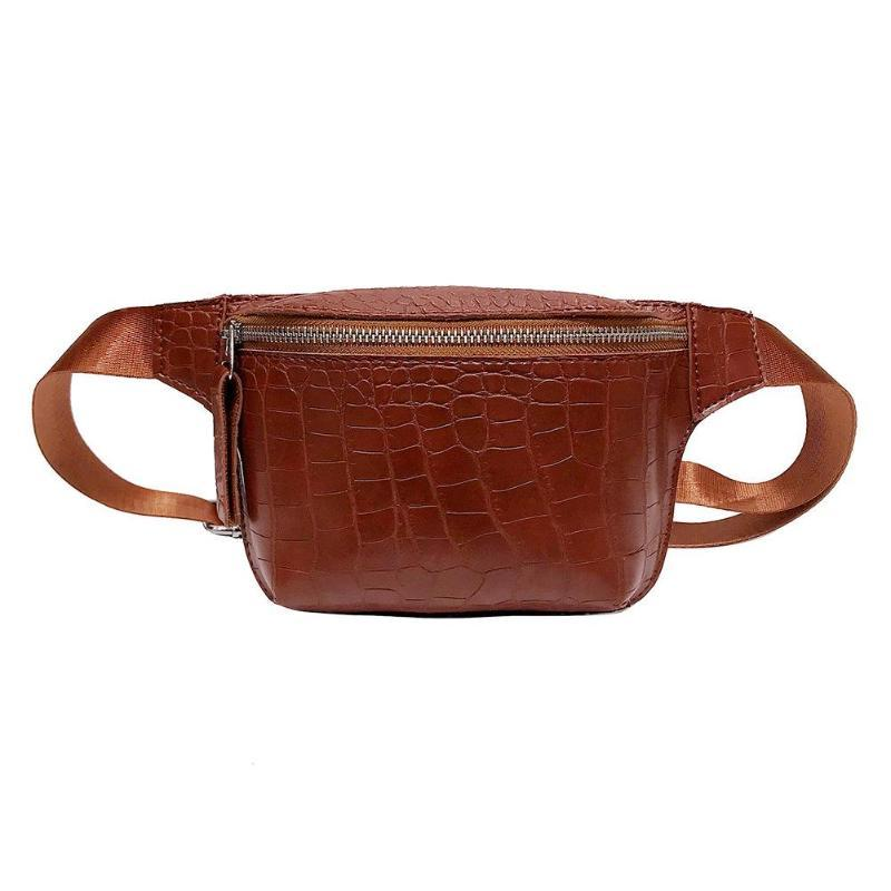 2019 Women S Chest Bags Alligator Pattern Shoulder Hand Bags Pu Leather Waist  Women Crossbody Chest Fanny Belt Pack Designer Handbags Messenger Bags From  ... 22a9cd05c9