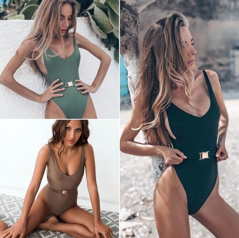 7ce53cab998 2019 2019 Sexy Swimsuit Women Swimwear One Piece Bodysuit Push Up Monokini  Halter Cross Bathing Suits Swim Suit Swim Wear Female Beachwear EOS857 From  ...