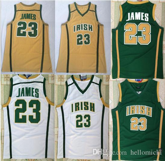 NCAA 23 Lebron James High School Basketball Jerseys Stitched Jerseys High Quality Embroidery Sportwear Shirt For Men S-XXL