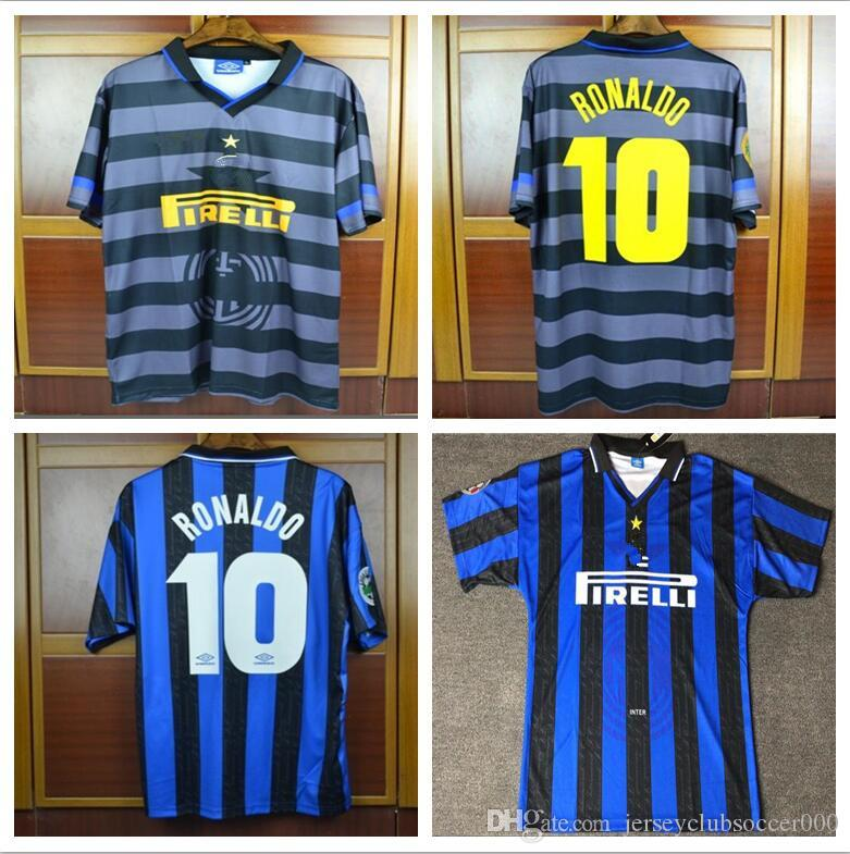 cf09b90841b 97 98 Retro Ronaldo Soccer Jersey Classic Milan 1997 1998 Ronaldo Football  Shirts Maillot De Foot Canada 2019 From Jerseyclubsoccer000