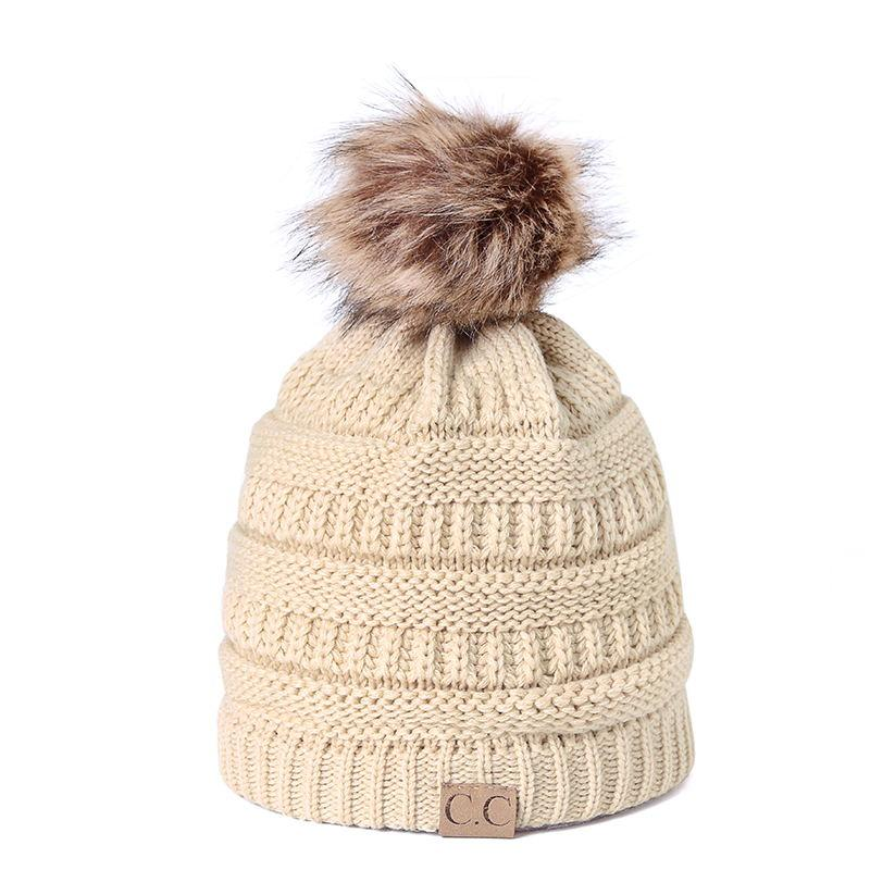 3676354096f0a8 CC Knitted Hat Winter Hat 2018 Fashion Knitted Black Hats Fall Thick And  Warm And Bonnet Skullies Beanie Soft Bean Mens Hats Straw Hat From Huazu,  ...