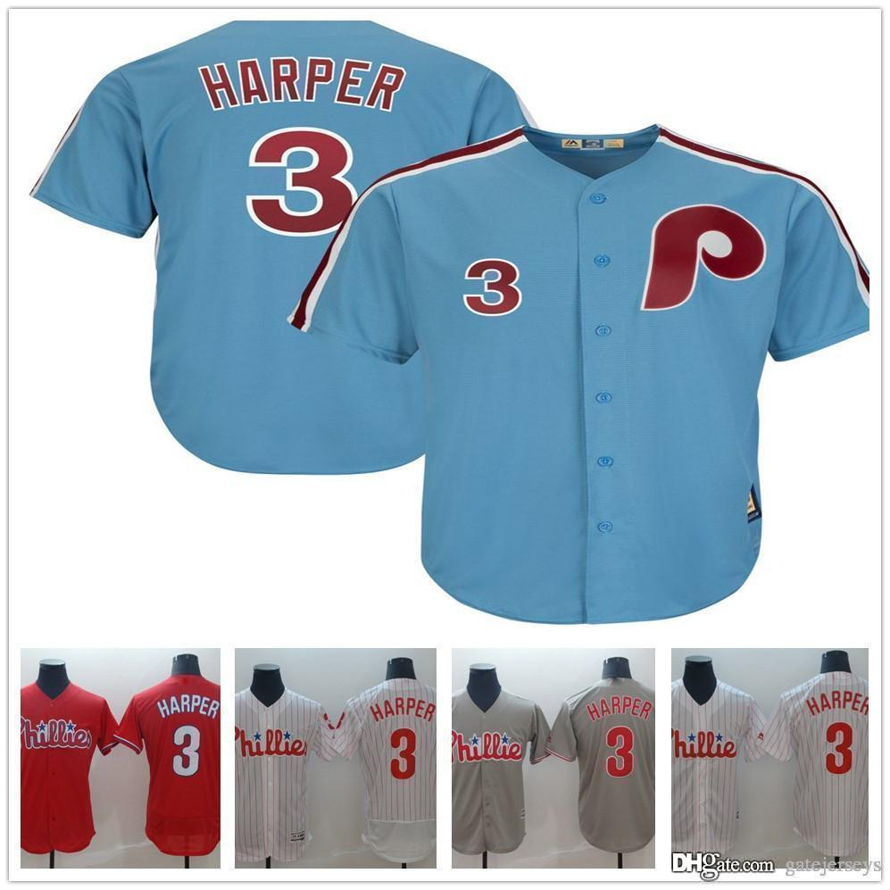 best service 3709a 72525 2019 New Phillies Jersey Bryce Harper white Red Grey baseball Jerseys