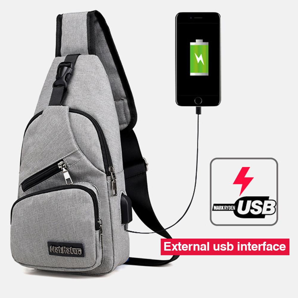 0c3ff7f4830 USB Charging School Bag Mens Messenger Bags Men Anti Theft Chest Bag Travel Crossbody  Bags 2019 New Fashion Black Gray Shoulder Bags For Women Travel Bags ...