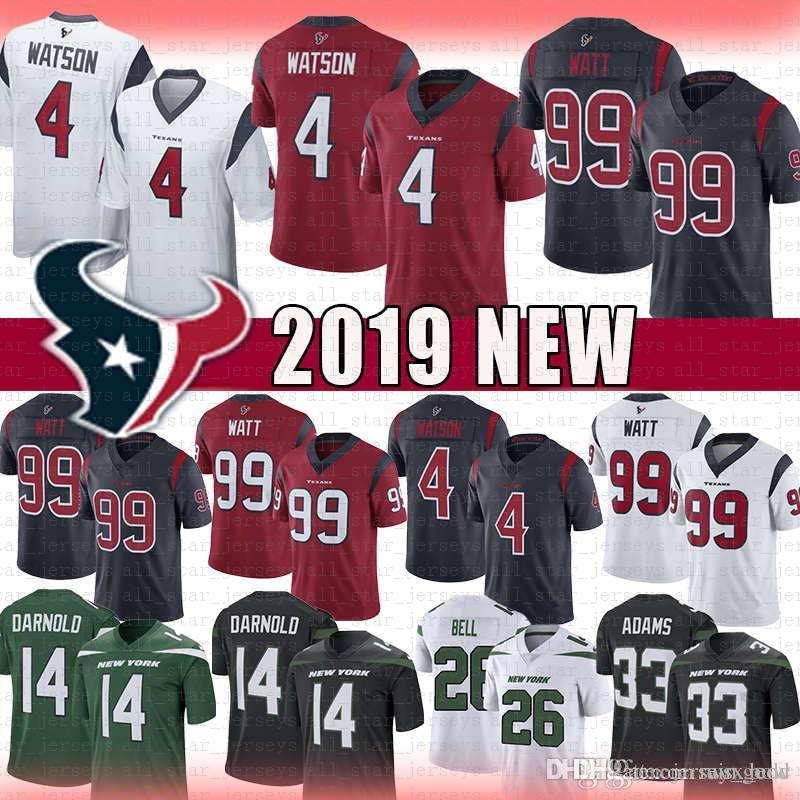 online retailer 74017 4cb3b Texans Jersey men s 4 Deshaun Watson 99 J.J. Watt Houston 2019 new Vapor  Limited Texans Jets Adams Sam Darnold Bell Mosley Jerseys