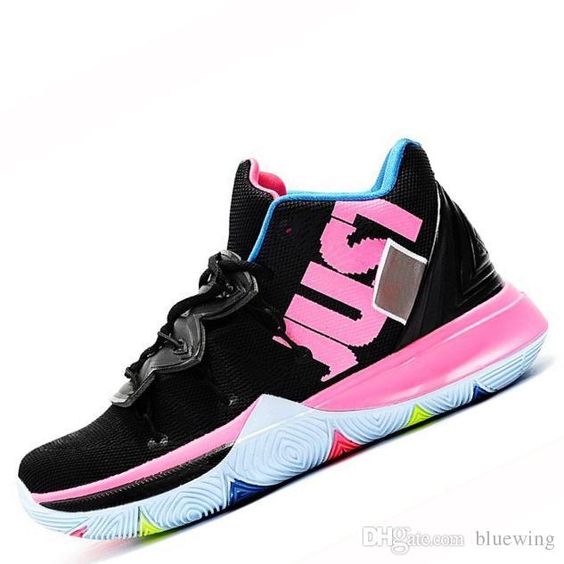 reputable site 75c4e 334b4 Compre Nike Kyrie 5 Zapatillas De Baloncesto Para La Venta Barata Irving 5s  Zapatillas Deportivas Zapato Para Hombre Lobo Gris Equipo Rojo Zapatillas  De ...