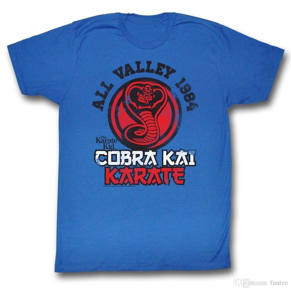 88f98416 Karate Kid T Shirt Cobra Kai Karate Royal Blue T Shirt T Shirt Men Boy  Designed Custom Short Sleeve Plus Size Vintage Tee Shirts T Shirt Shirt  Awesome T ...