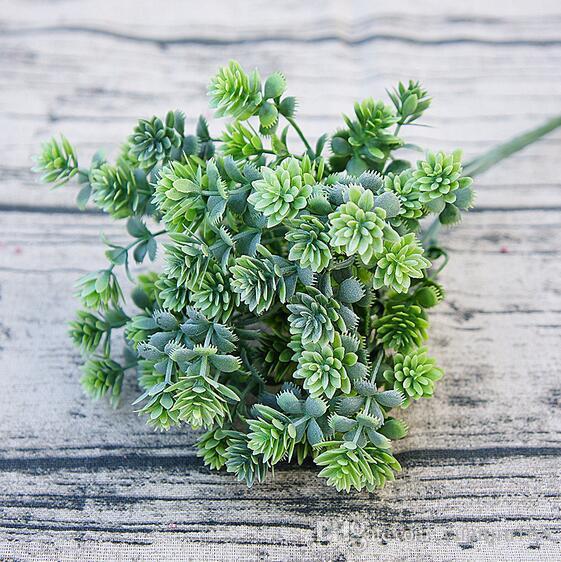 Compre Plastico Plantas Suculentas Caida Artificial Hojas Flores
