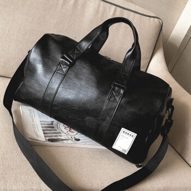20b4a9f698 Gym Bag Leather Sports Bags Big MenTraining Tas for Shoes Lady ...