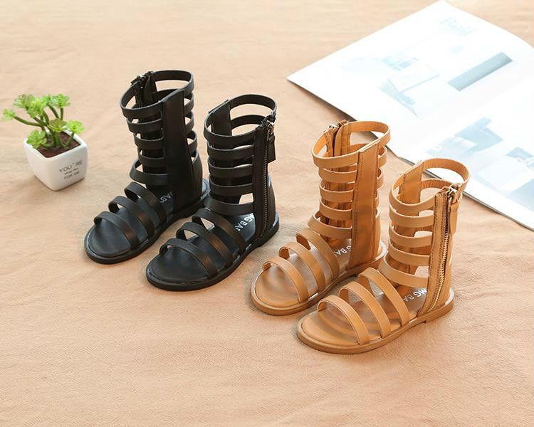 a3b5d4ffc73f4 Acheter 2019 Été Nouvelles Filles Style Sandales Bottes Hautes Chaussures  Antidérapantes Pour Enfants Taille 21 30 De  13.2 Du Jiaabc66