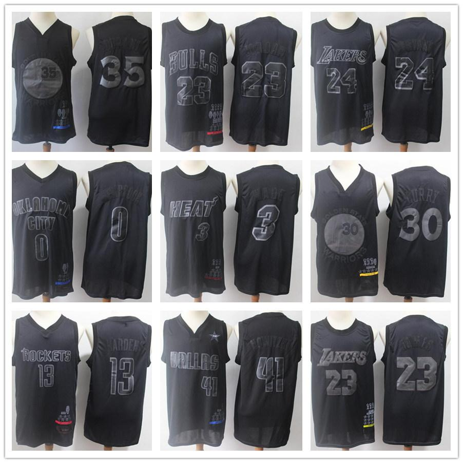 release date: 625f0 f5735 HOT BLACK MVP new Jerseys Michael J 23 JAMES 30 CURRY 0 Westbrook 3 Wade 13  HARDEN 35 DURANT 41 Nowitzki KOBE 24 BRYANT COLLECTION