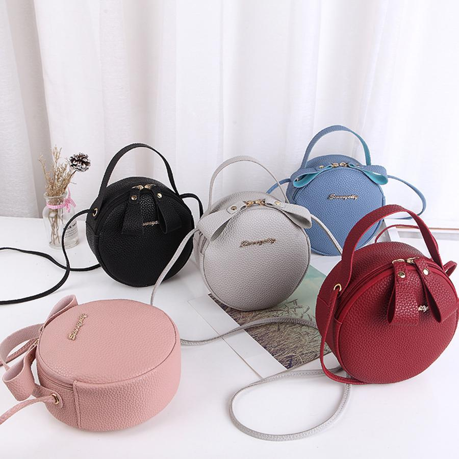 Mini PU Leather Crossbody Bag Small Round Bags For Women S Handbag Casual  Lady Brands Shoulder Messenger Bags Cute Phone Purses Large Handbags Black  Leather ...