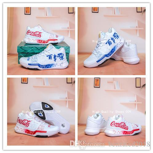 45bea6bf4bf 2019 What The Kyrie Irving 3 III G6 Basketball Shoes Men Irving 3s Pepsi  Cola White Red Blue BHM Finals Sports Running Shoes Size 40 46 UK 2019 From  ...