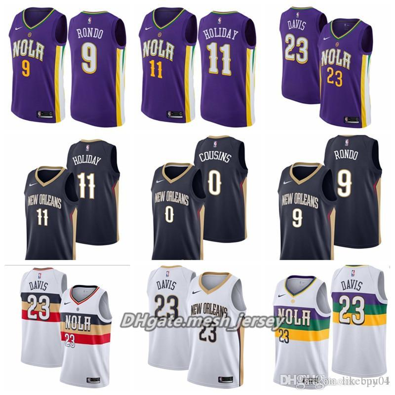 ... clearance 2019 men new orleans basketball pelicans jersey 23 anthony  davis 9 darius morris stitched jerseys ea378c218