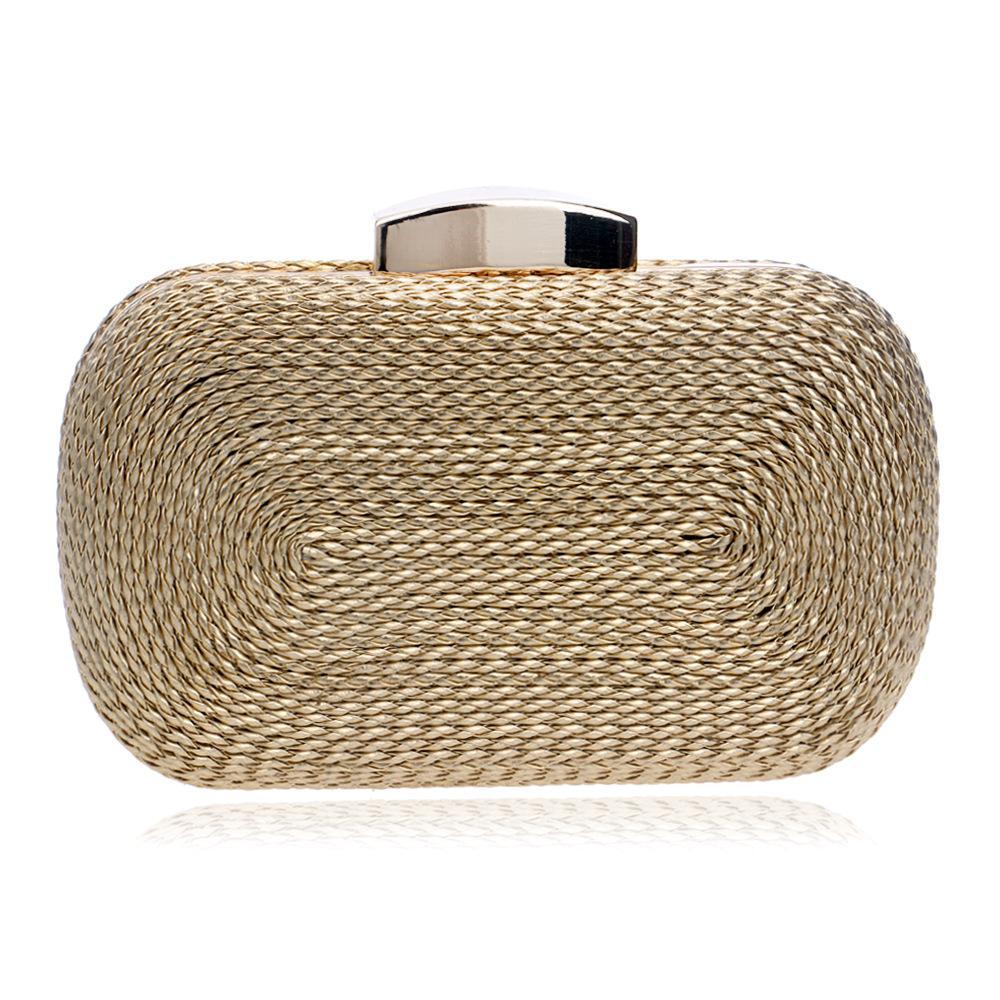 acc32a37a492 Hot Sale Weaving Evening Bag Imitate Straw Knitted Party Clutches For Women  Purse Designer Mini Handbag Wallet Evening Bolsas Ivanka Trump Handbags  Leopard ...