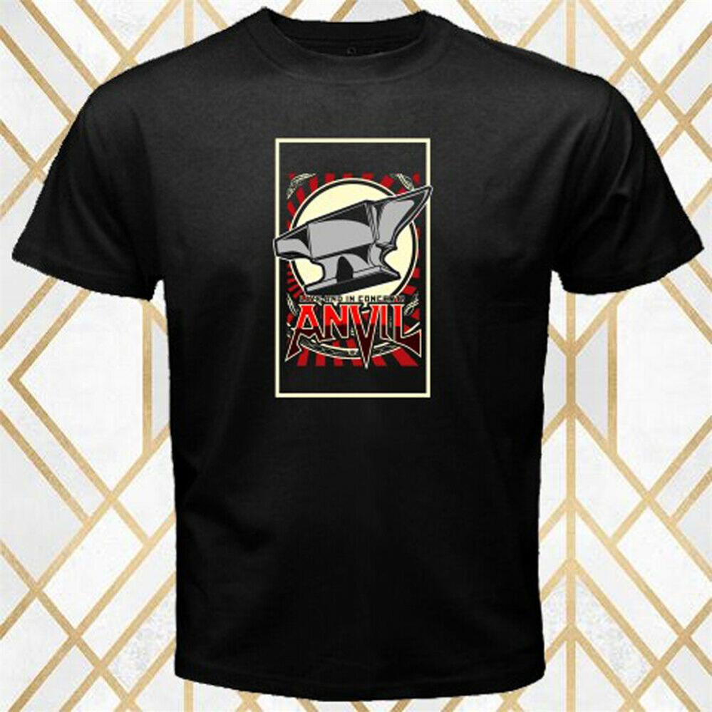 Anvil Heavy Metal Legend Logo Men'S Black T-Shirt Size S - 3Xl Teenage Pop Top Tee Shirt