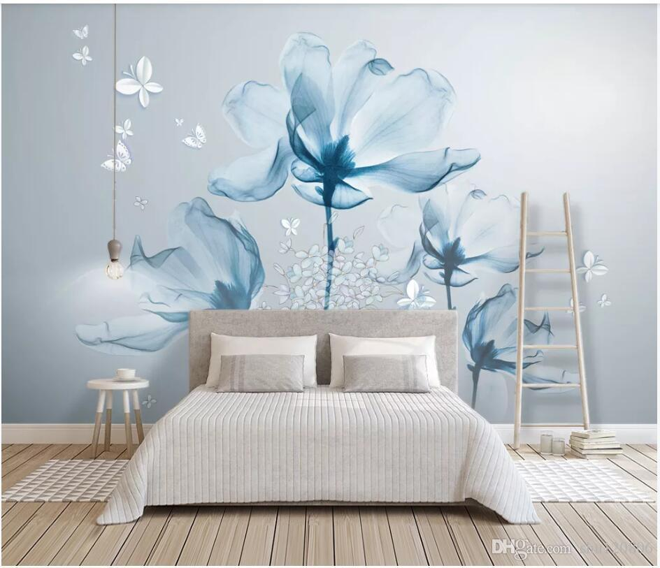 WDBH 3d photo wallpaper custom mural Simple European hand painted flowers home decor living Room 3d wall murals wallpaper for walls 3 d