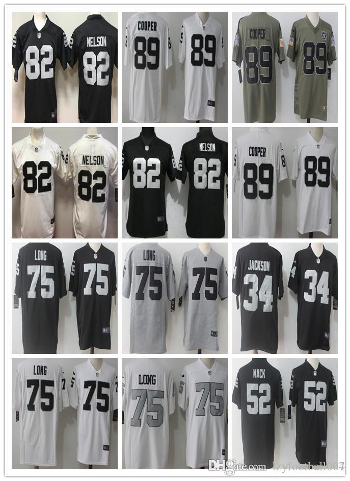 sports shoes 3e55f 6019b Rugby Wear Oakland 12 Kenny Stabler 82 nelson 75 Howie Long 89 Amari Cooper  Raiders men/WOMEN/ YOUTH Rugby Jerseys